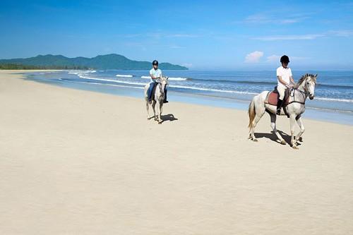 Rasa Ria Horse Riding Along the Beach